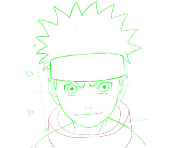 Drawn naruto easy Drawing shoulders folds and inside