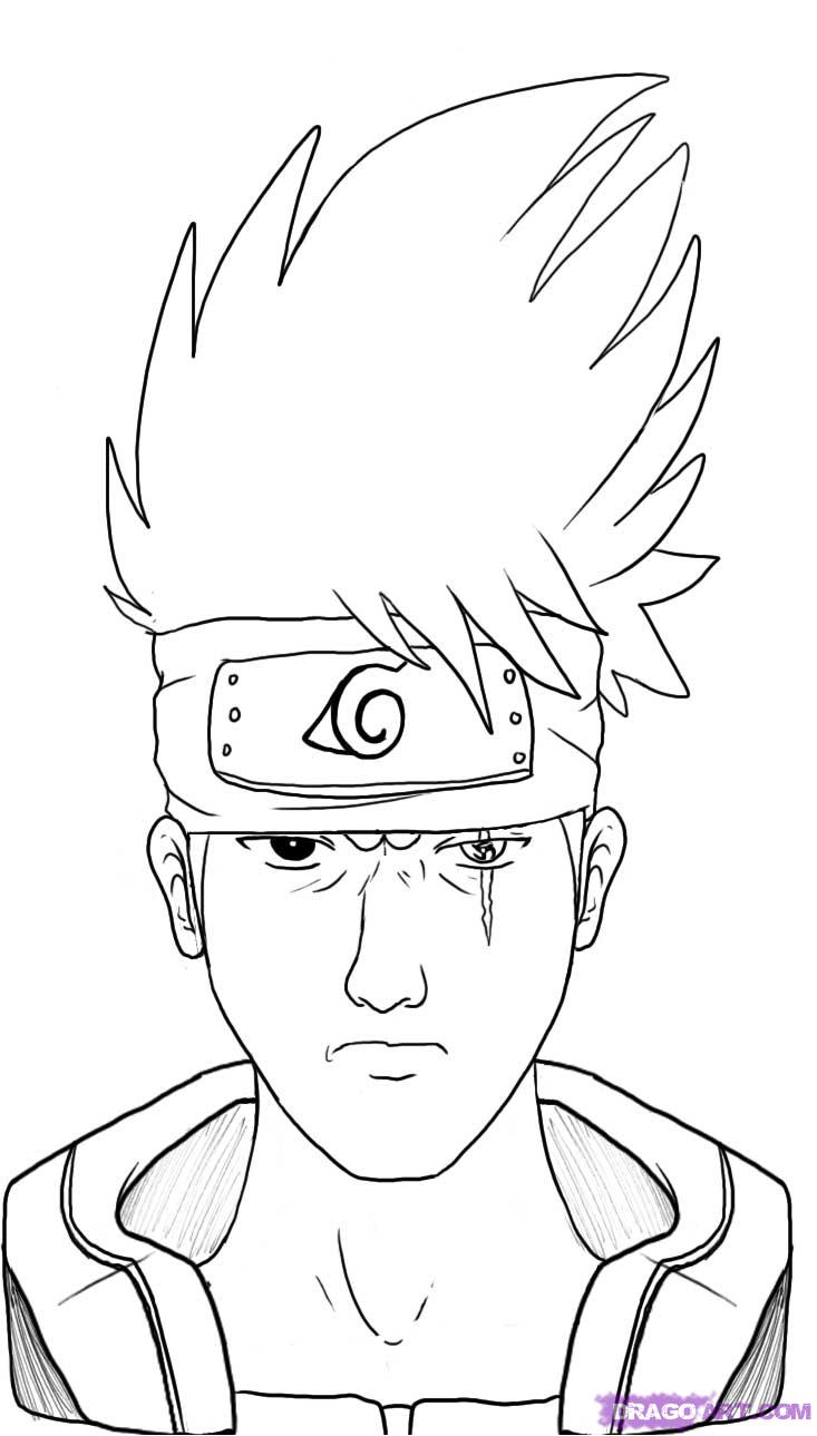 Drawn naruto face Draw Free From Download Easy