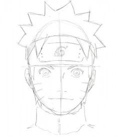 Drawn naruto face Step How  Tutorial HowToDrawManga3D