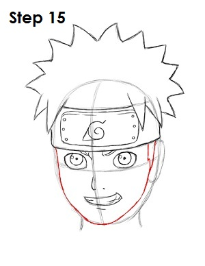 Drawn naruto face Draw Naruto How Step to