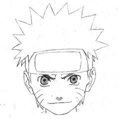 Drawn naruto face #naruto Naruto kamisama66  step