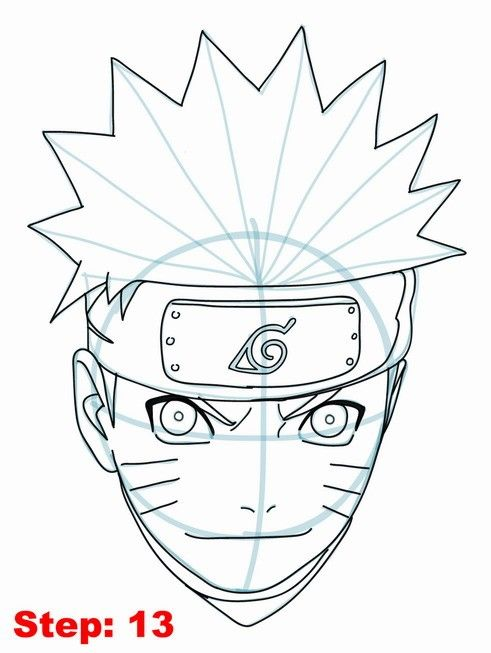 Drawn naruto face Tutorial best to on Drawing