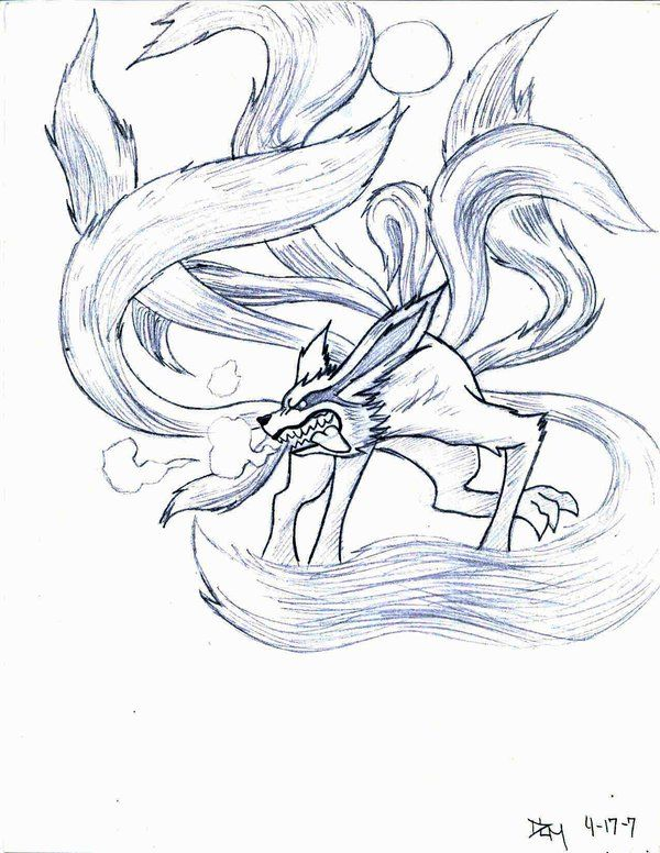 Drawn naruto fox Ninetail Ninetail (Naruto  images
