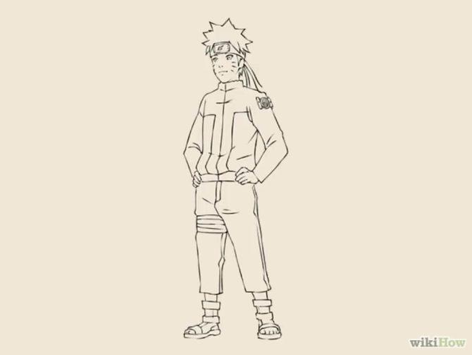 Drawn naruto full body Easy to Draw Art Draw
