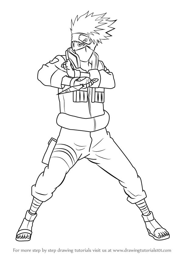 Drawn naruto full body Draw Kakashi Hatake by to
