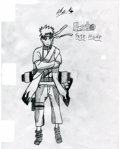 Drawn naruto full body Naruto Uzumaki Sage Mode Drawing