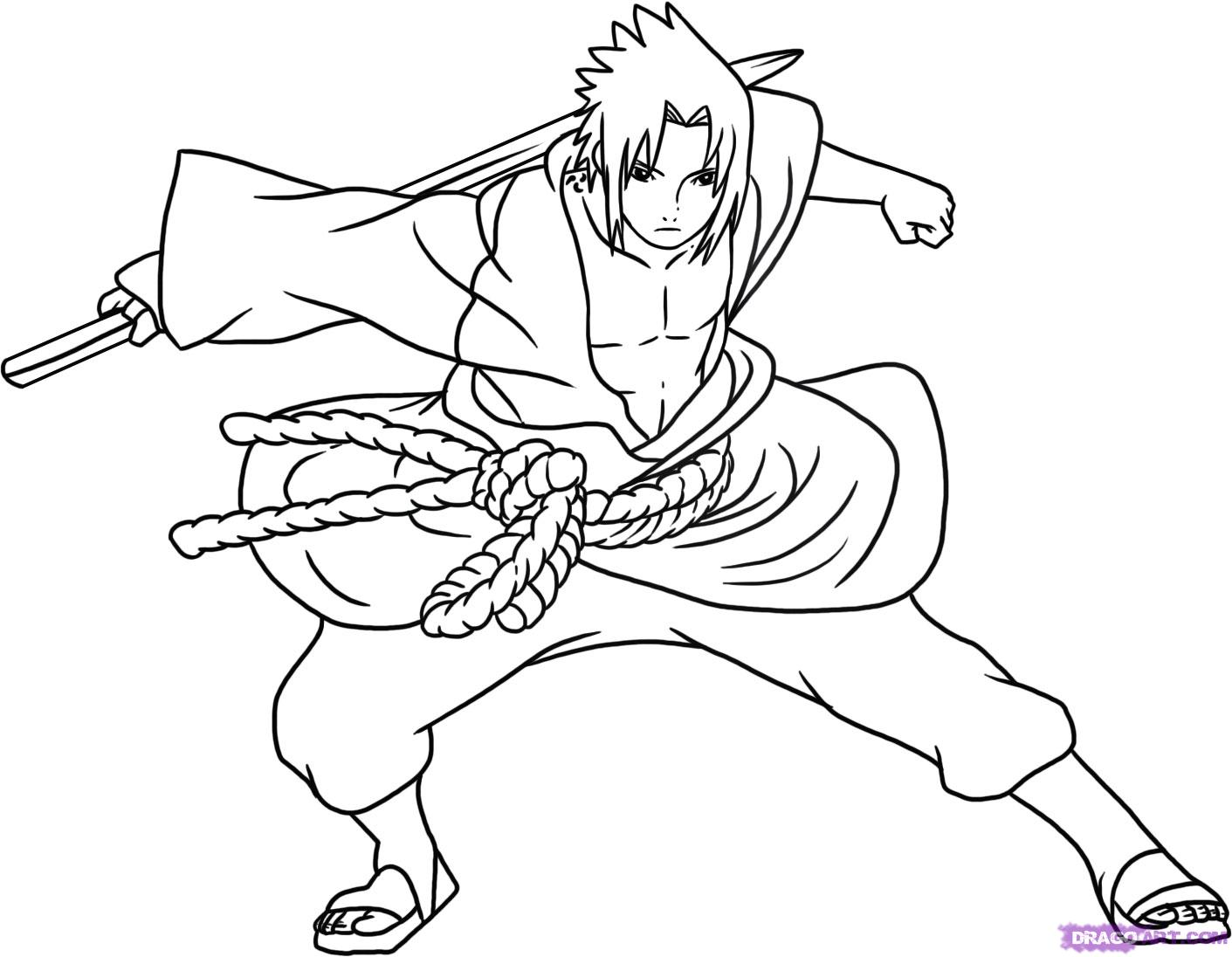Drawn pice sasuke How Naruto Shippuden Characters Step