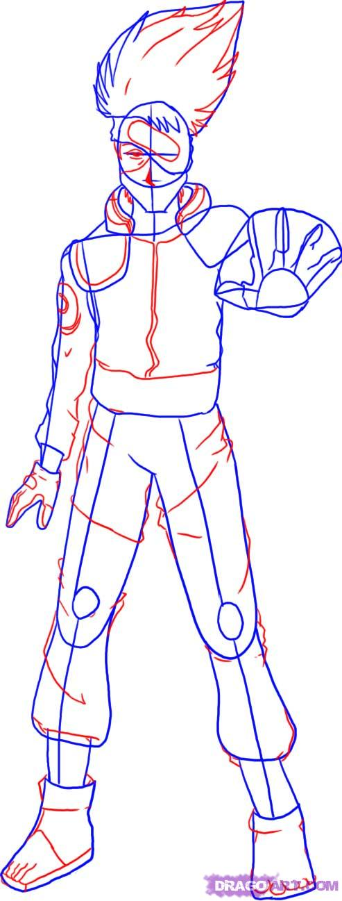 Drawn naruto full body To kakashi hatake  by