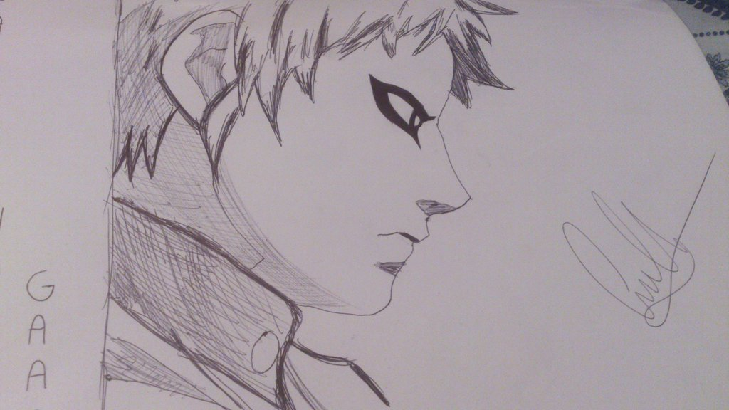 Drawn naruto gaara By Naruto Gaara Gaara by