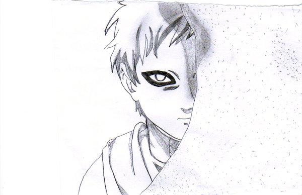 Drawn naruto gaara Drawing Gaara Gaara bexy by