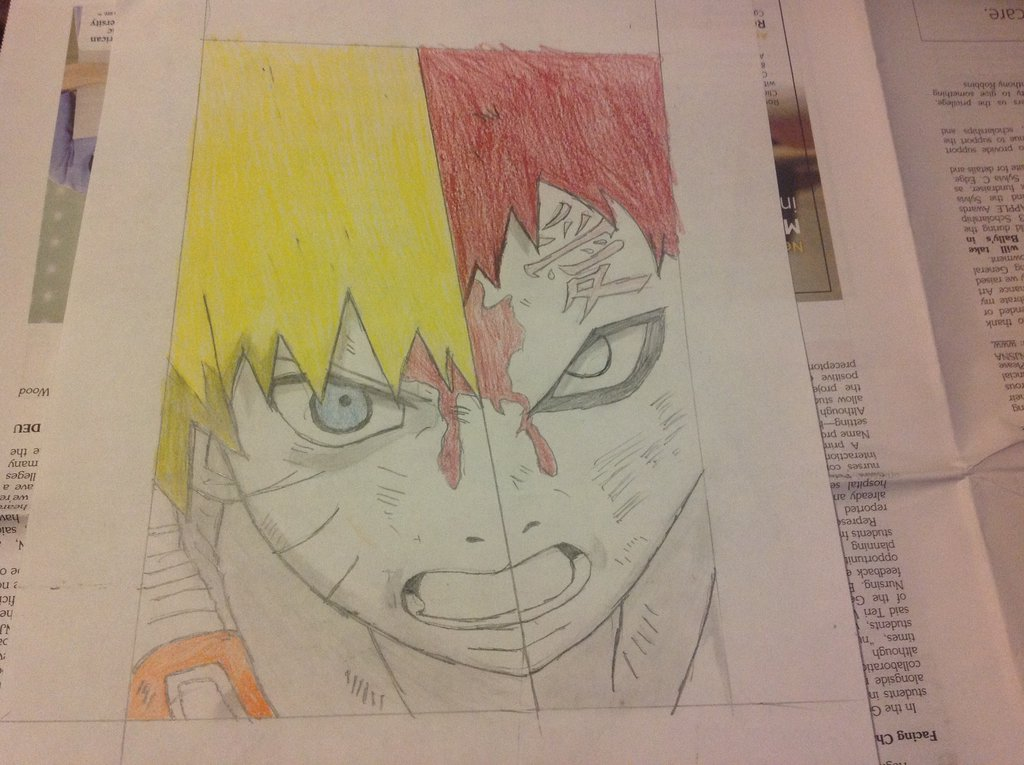 Drawn naruto gaara By on by Naruto/Gaara DeviantArt