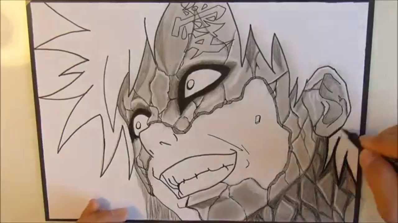 Drawn naruto gaara YouTube Drawing (Naruto)  #42