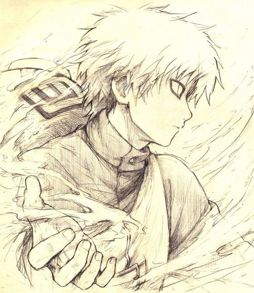 Drawn naruto gaara Still Of Pinterest Kazekage on