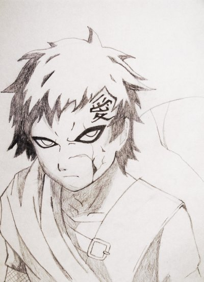 Drawn naruto gaara Kitehh Gaara Desert Of Drawing