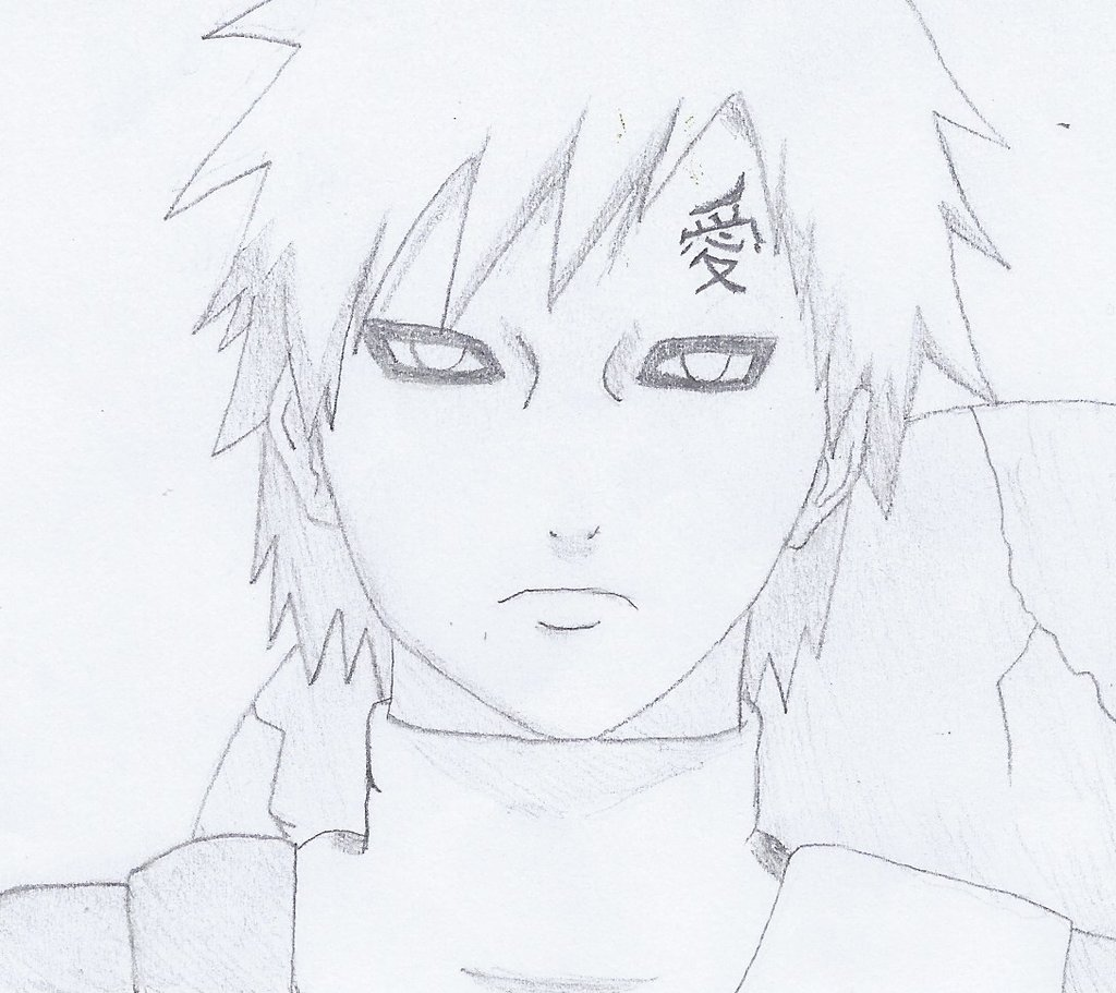 Drawn naruto gaara On Naruto by Shippuden NINJAWERETIGER