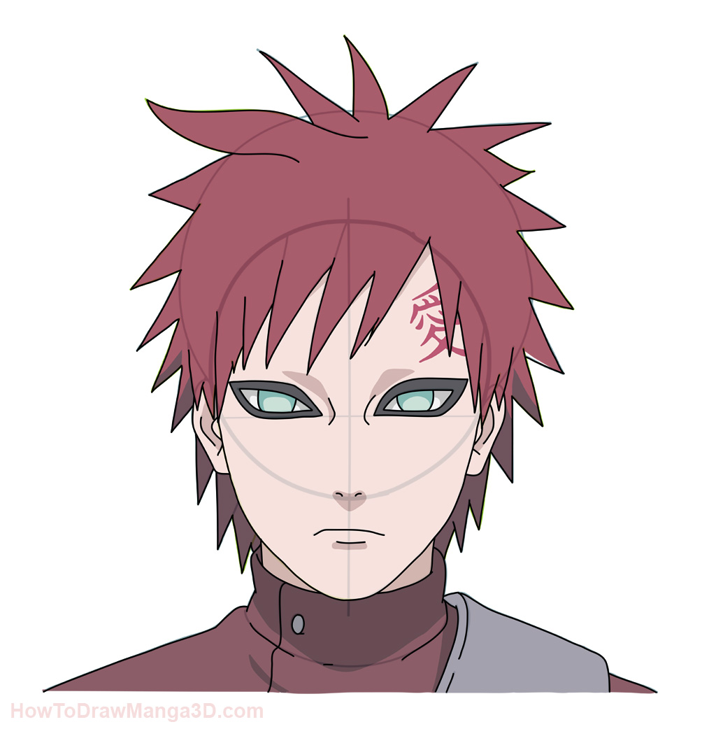 Drawn naruto gaara To  step Pinterest step