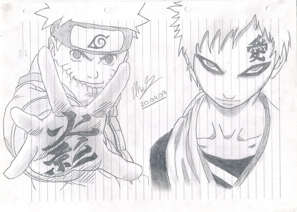 Drawn naruto gaara On Vs by Gaara KillAWatt1705