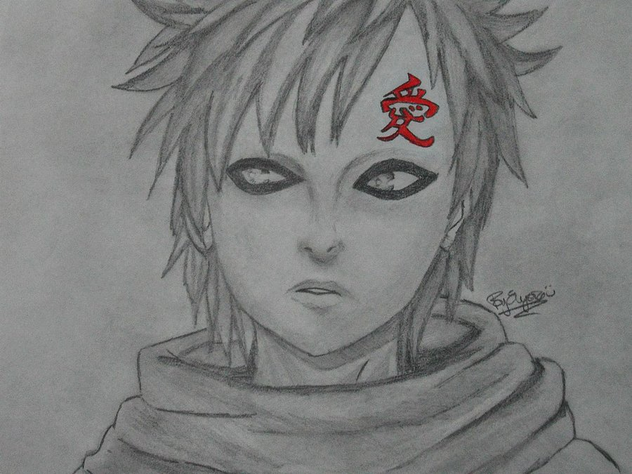 Drawn naruto gaara By on by Naruto: DeviantArt