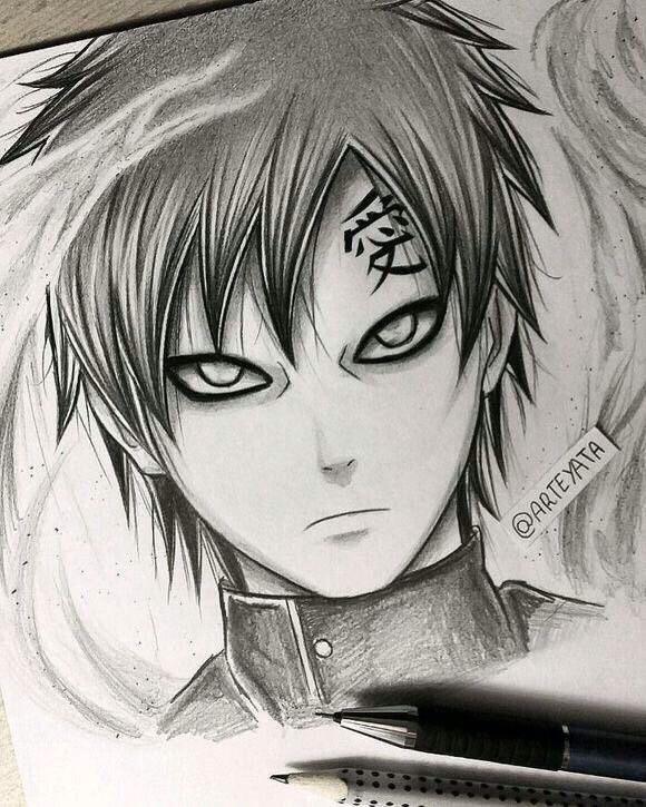 Drawn naruto hand drawn Naruto and this Gaara drawn