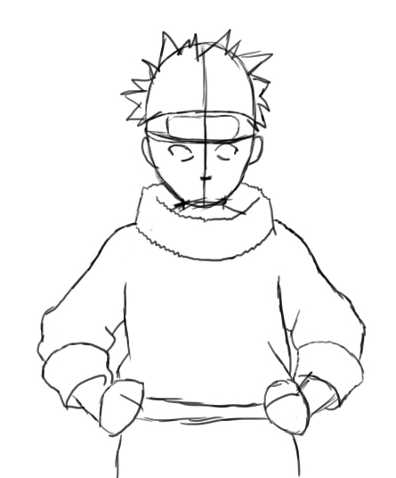 Drawn naruto head Is shapes How step Central