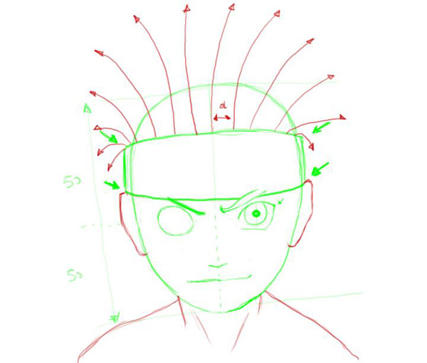 Drawn naruto head Simple drawing Naruto is Factory