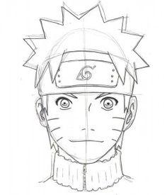 Drawn naruto head Easy Kakashi Step  by