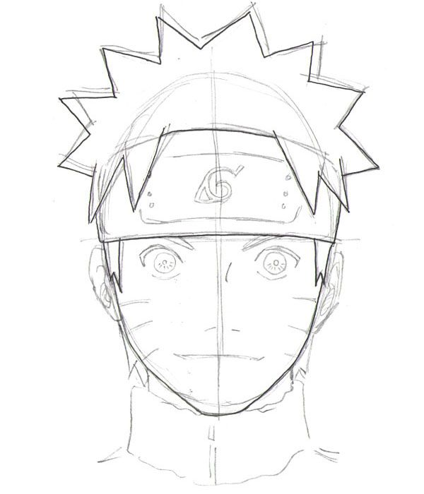 Drawn naruto head Drawing about Pinterest step by