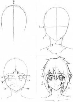 Drawn naruto head Improved) and Draw Naruto Characters