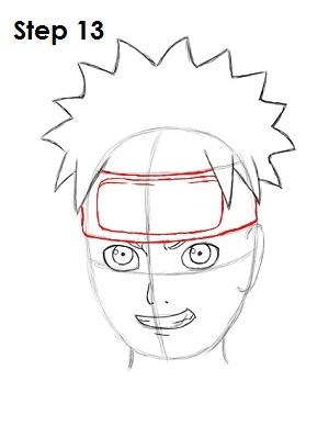 Drawn naruto head Step Naruto Naruto How 13