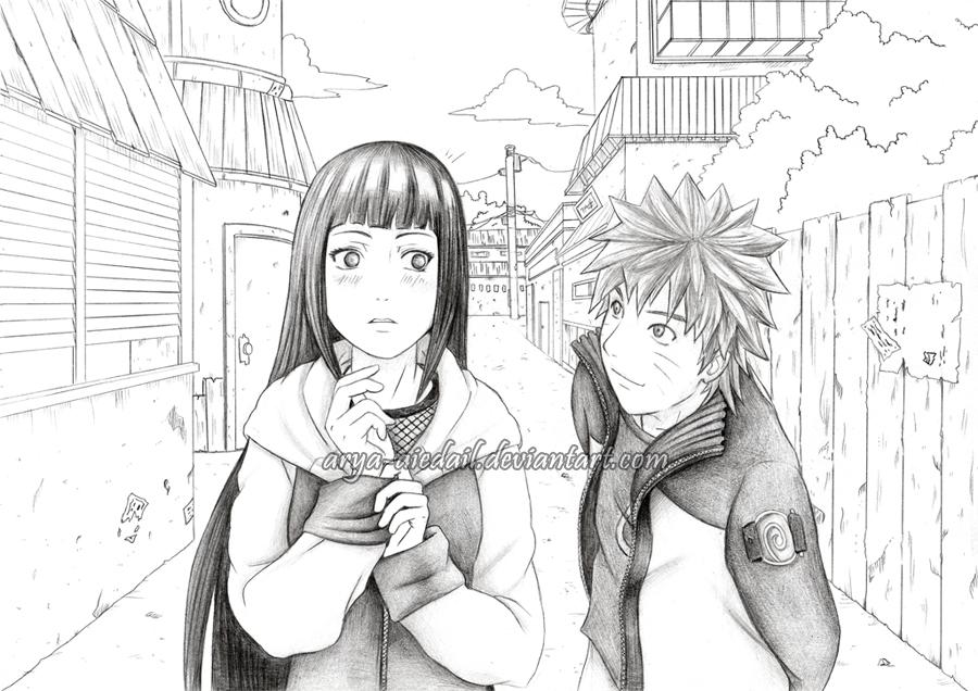 Drawn naruto hinata Naruto by Arya @DeviantArt Hinata