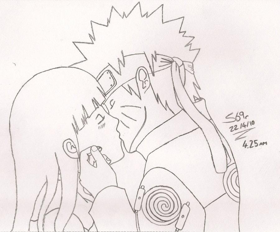 Drawn naruto hinata Hinata+Naruto Hinaru on sparten69r DeviantArt