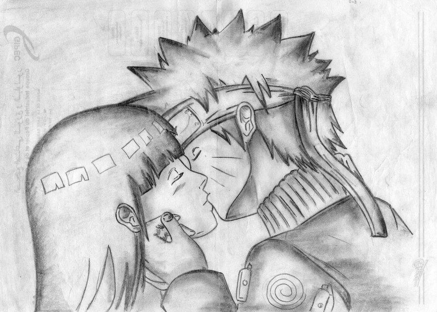 Drawn naruto hinata Naruto by Hinata Hinata by