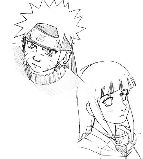 Drawn naruto hinata Naruto by on Hinata sketch