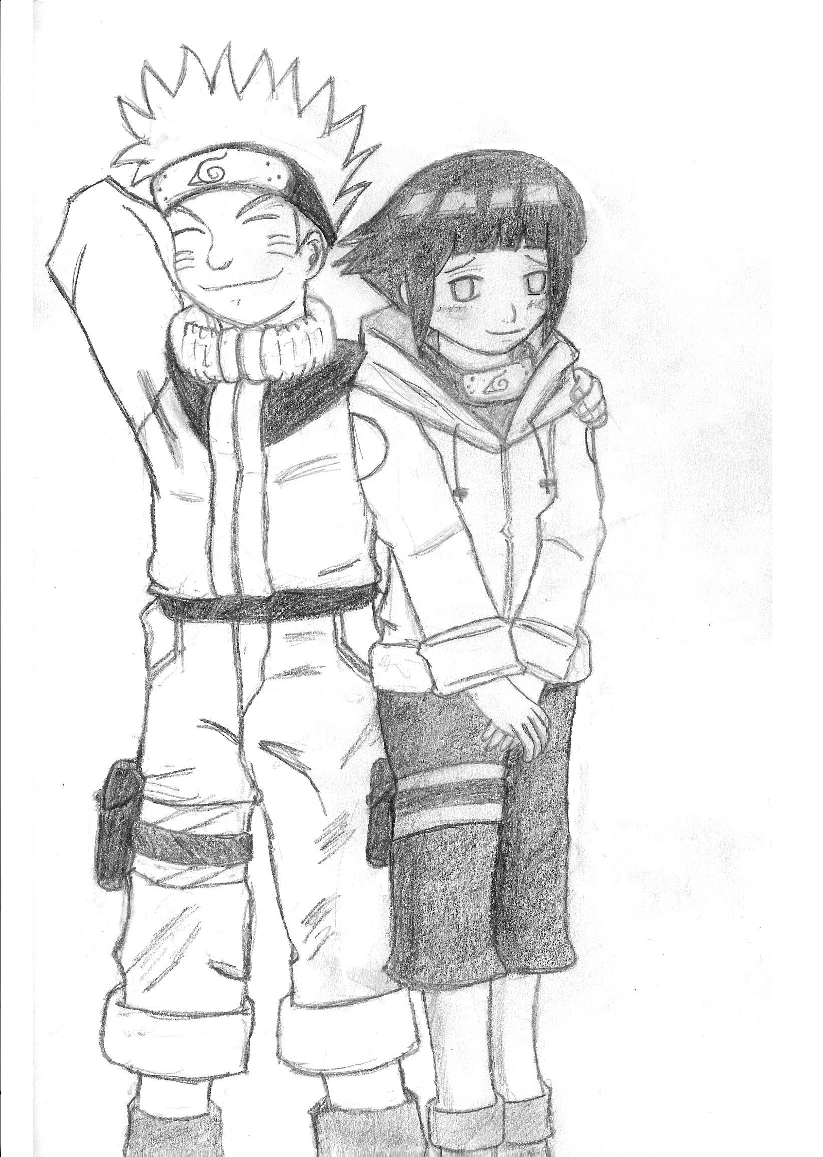 Drawn naruto hinata  Hinata kun Naruto and