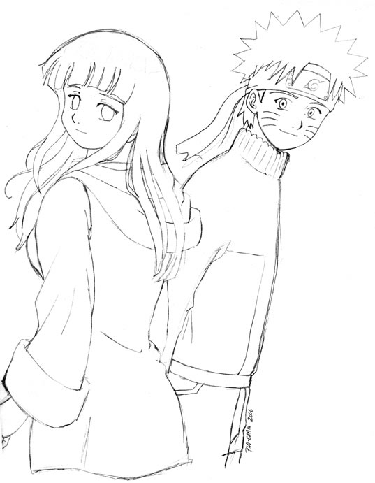 Drawn naruto hinata Naruto cuando grandes sama Hinata