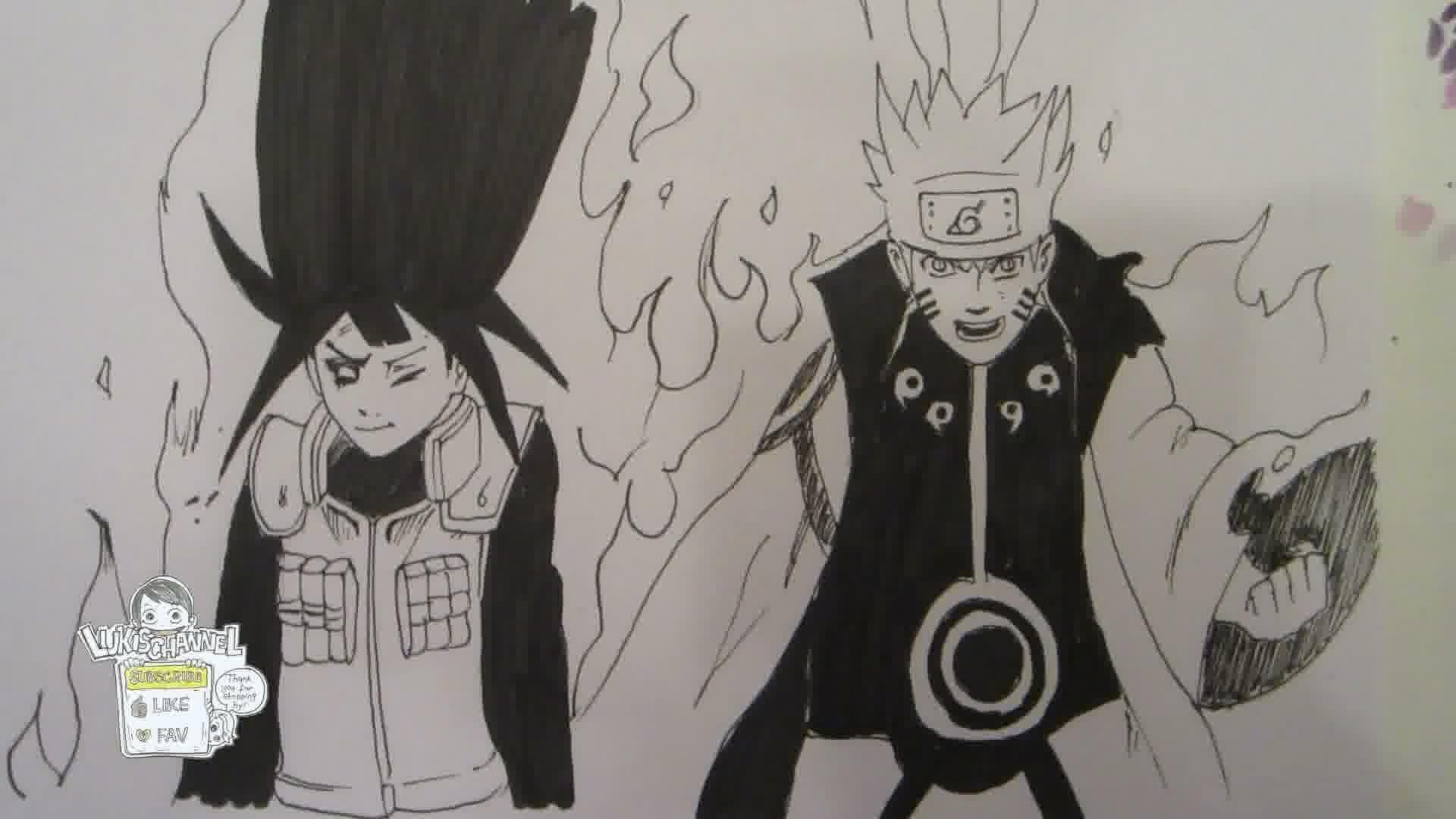 Drawn naruto hinata YouTube How Naruto Naruto Hinata