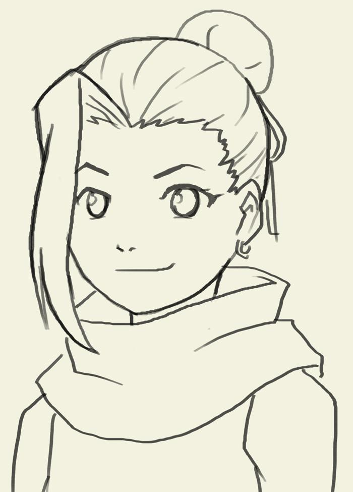Drawn naruto ino Draw digital and tutorials Yamanaka