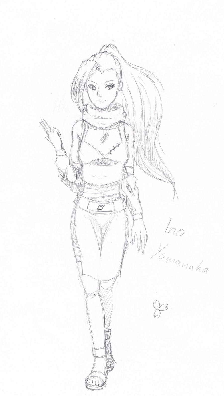 Drawn naruto ino YukiLilaPudel by by YukiLilaPudel sketch