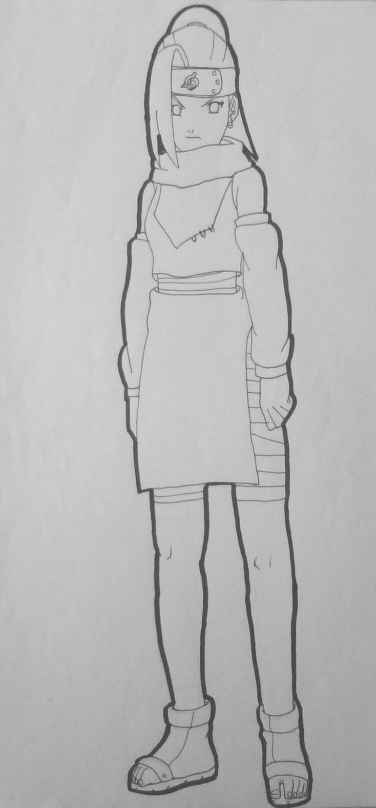 Drawn naruto ino Lineart DeviantArt _PTS_ Yamanaka Lineart