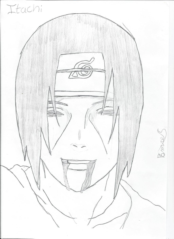 Drawn naruto itachi death On Scene Itachi's by Remura50
