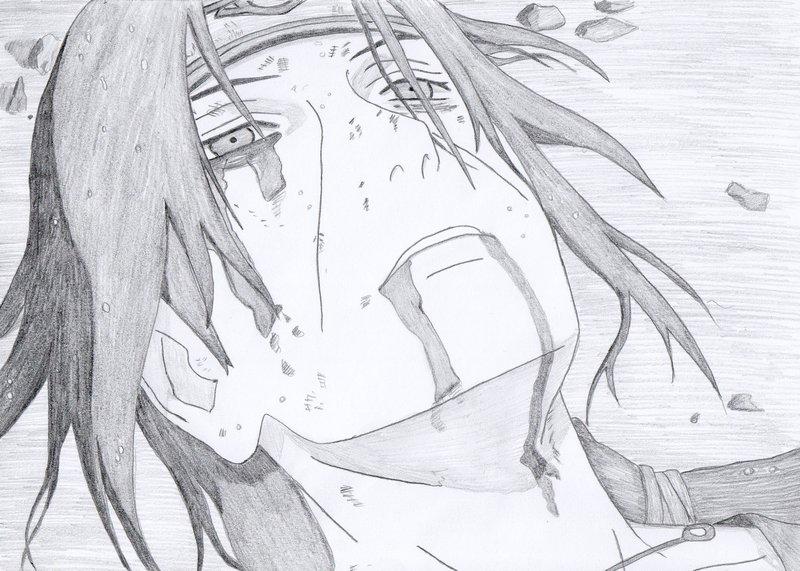 Drawn naruto itachi death By Itachi Emma Grave by