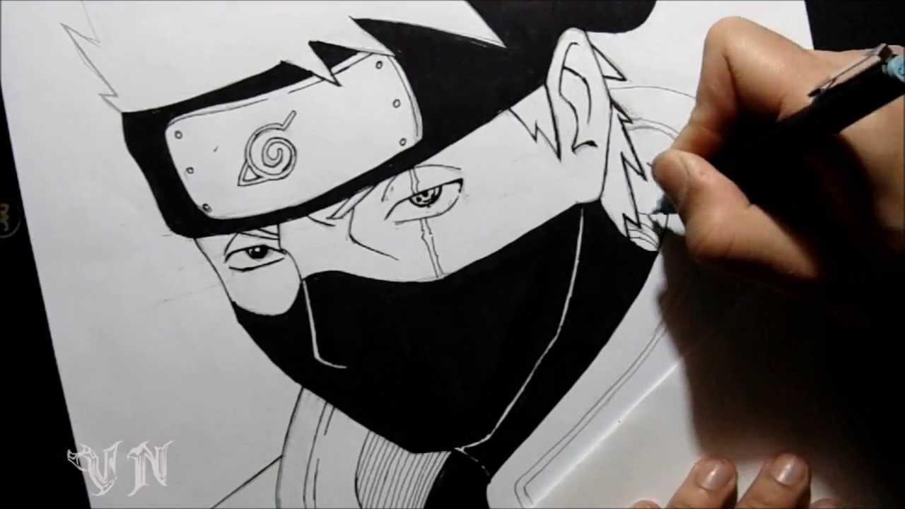 Drawn naruto kakashi sensei By VanderNinja Hatake/Desenhando Drawing kakashi