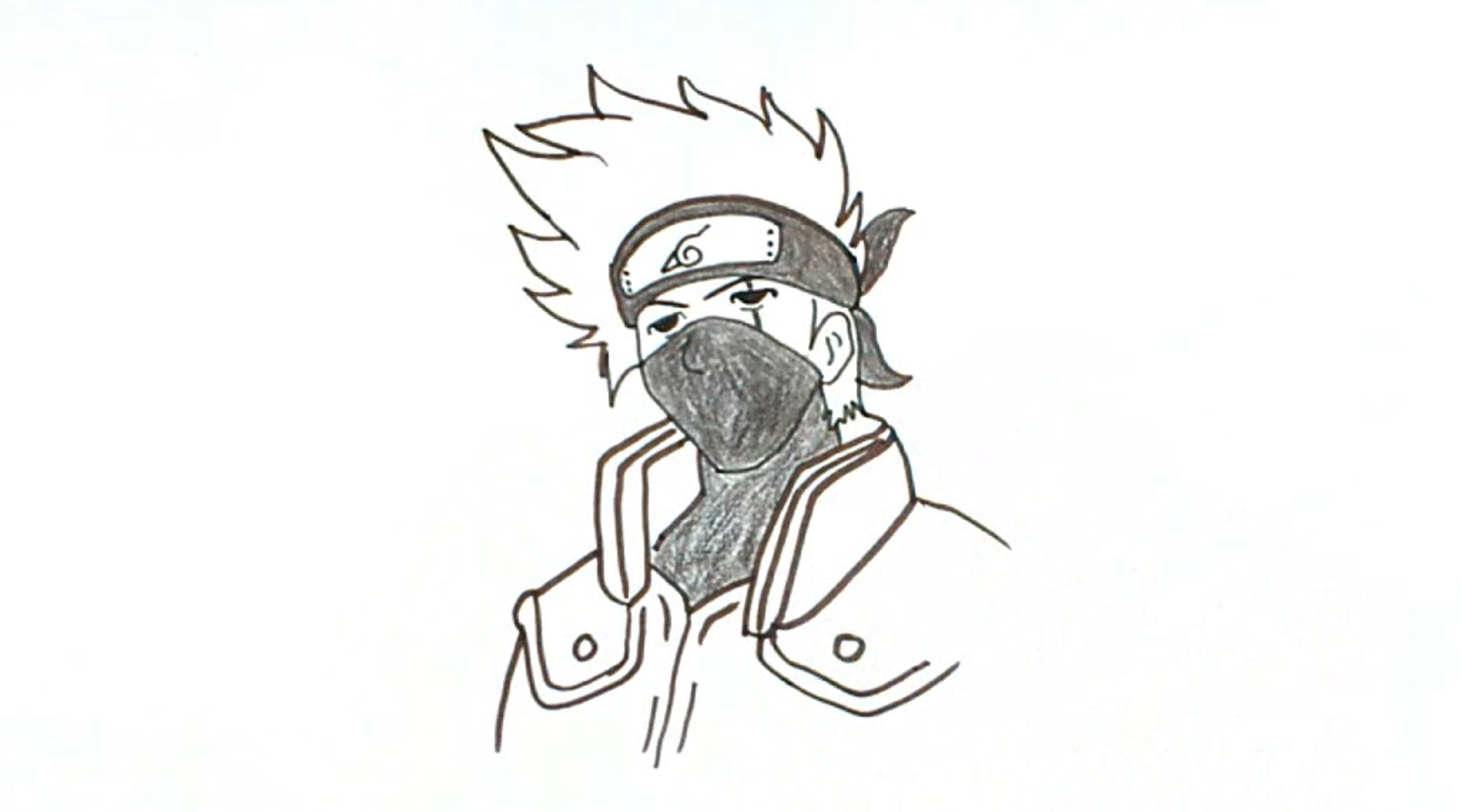 Drawn naruto kakashi sensei From Naruto Draw How Kakashi
