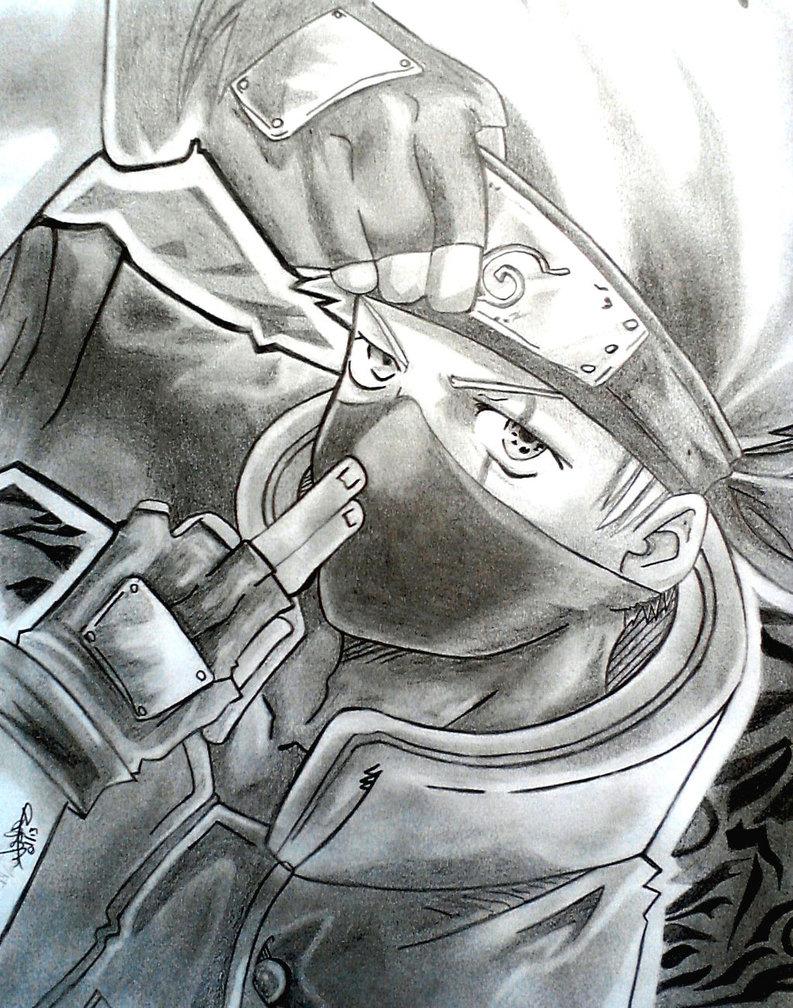 Drawn naruto kakashi sensei Naruto By Drawing Kakashi Naruto