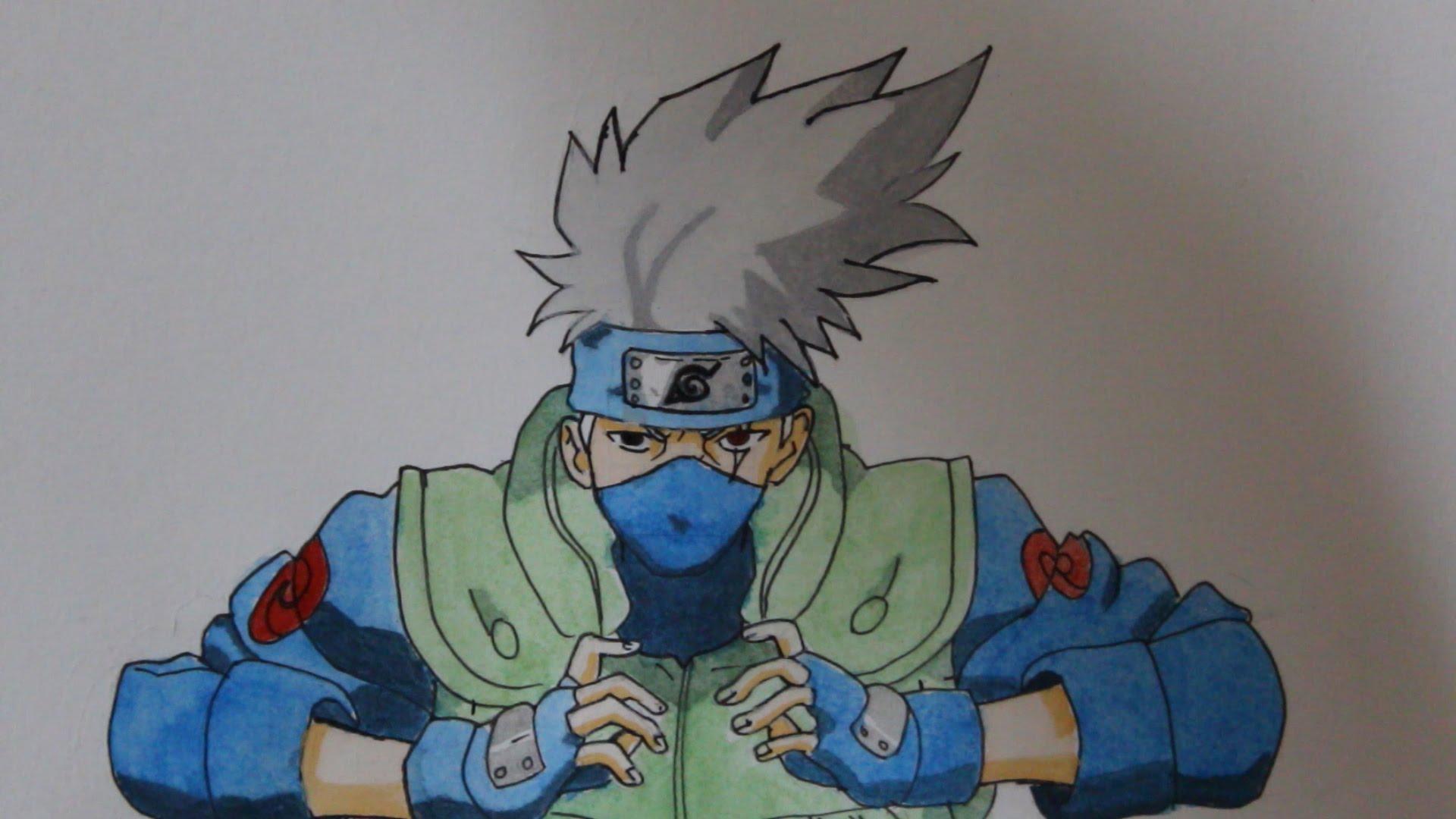 Drawn naruto kakashi sensei (Time Lapse) Hatake Drawing Naruto