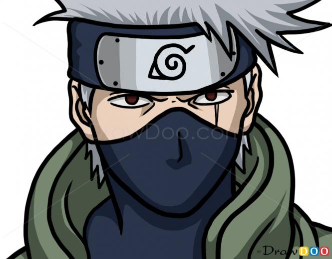 Drawn naruto kakashi sensei To  Draw Naruto Kakashi