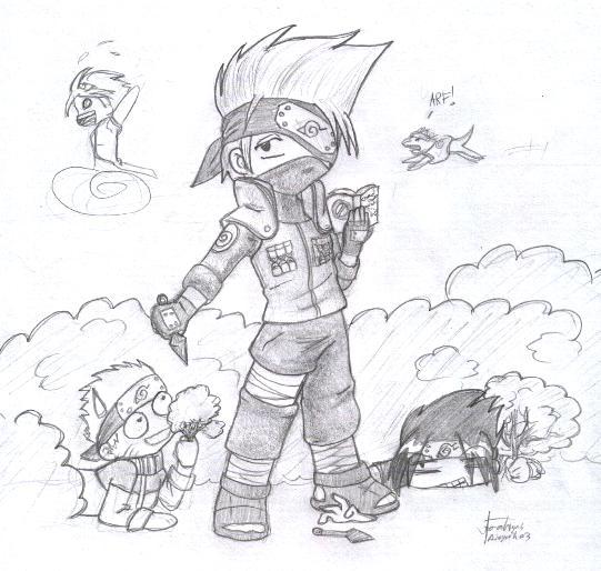 Drawn naruto kakashi sensei On DeviantArt Kakashi Naruto sensei