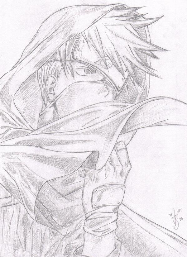 Drawn naruto kakashi sensei Sensei Naruto by on DeviantArt