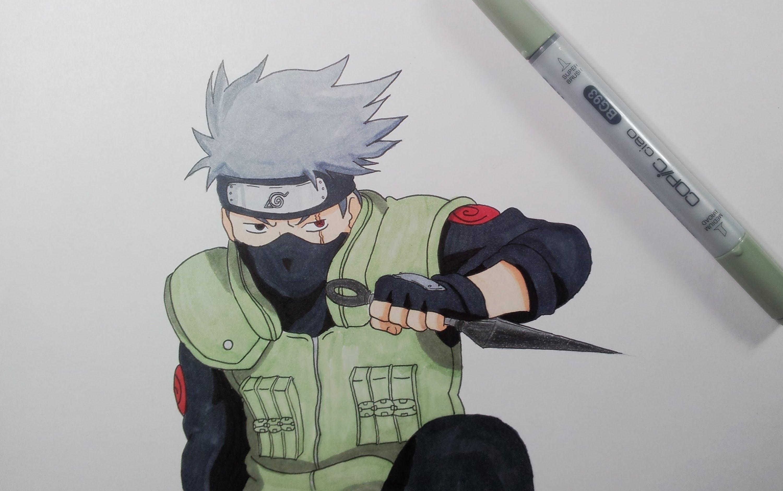 Drawn naruto kakashi sensei Kakashi  Hatake YouTube Drawing