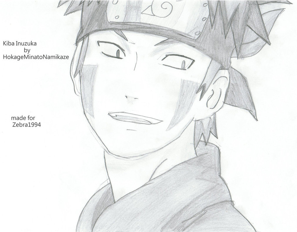 Drawn naruto kiba Kiba by Kiba DeviantArt Inuzuka